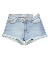 Mayoral Girl's Denim Shorts with Metal Studs