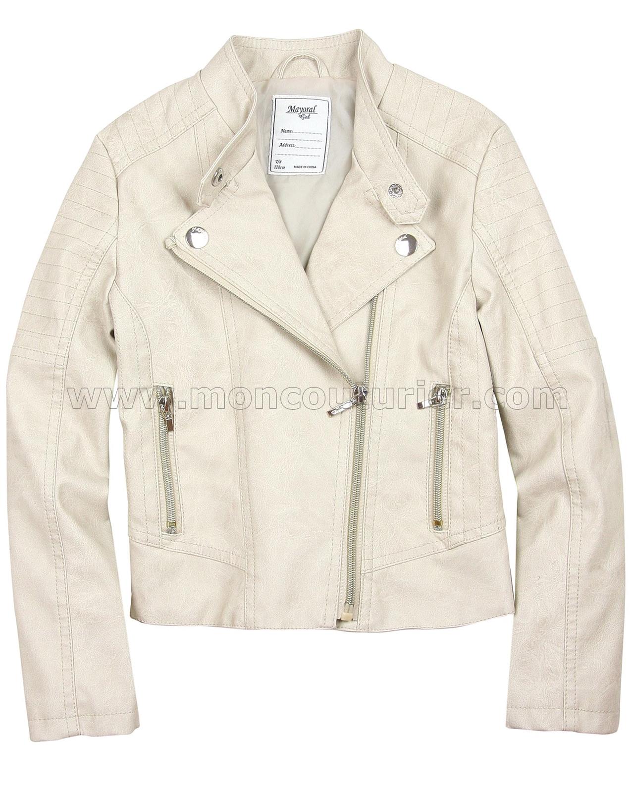 d8736f6b5 MAYORAL Girl's Pleather Jacket, Sizes 8-16