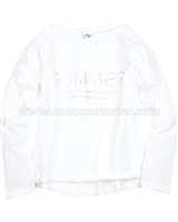 Mayoral Girl's Embroidered Sweatshirt