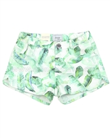 Mayoral Girl's Leaf Print Shorts