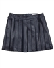 Mayoral Junior Girl's Pleated Pleather Skirt Navy
