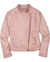 Mayoral Girl's Pleather Jacket Blush