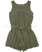 Mayoral Girl's Pleated Romper