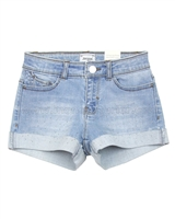 Mayoral Girl's Cuffed Denim Shorts