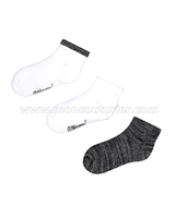 Mayoral Girl's Short Socks Set Gray/Black