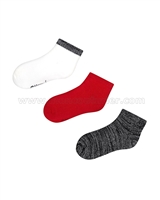 Mayoral Girl's Short Socks Set Black/Red