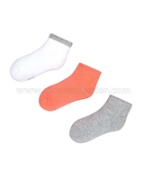 Mayoral Girl's Short Socks Set Gray/Coral