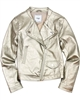 Mayoral Junior Girl's Gold Pleather Jacket
