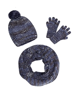 Mayoral Junior Girl's Navy Hat, Scarf and Gloves Set