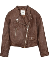Mayoral Junior Girl's Brown Pleather Jacket