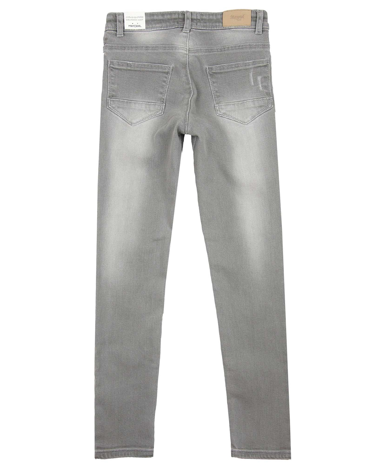 Mayoral Junior Girls Gray Denim Pants with Jewels Sizes 8-18
