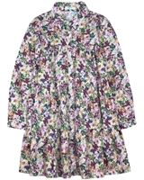 Mayoral Junior Girl's Tiered Dress in Leaves Print