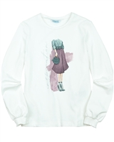 Mayoral Junior Girl's T-shirt with Fashionista Graphic