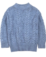 Mayoral Junior Girl's Cable Knit Sweater in Blue
