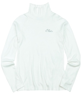 Mayoral Junior Girl's Rib Jersey Turtleneck in White