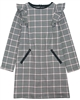 Mayoral Junior Girl's Houndstooth Dress with Ruffle