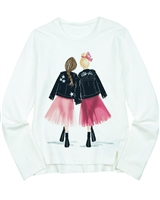 Mayoral Junior Girl's T-shirt with Fashionista Print