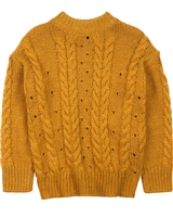 Mayoral Junior Girl's Cable Knit Sweater in Mustard