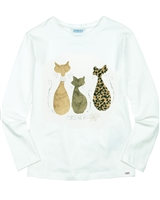 Mayoral Junior Girl's T-shirt with Cats Applique