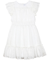 Mayoral Junior Girl's Embroidered Gauze Dress