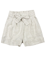 Mayoral Junior Girl's Embroidered Stripe Linen Shorts