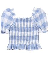 Mayoral Junior Girl's Plaid Smocked Top