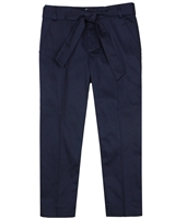 Mayoral Junior Girl's Navy Satin Pants with Belt