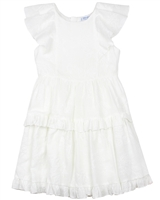 Mayoral Junior Girl's Tiered Jacquard Gauze Dress
