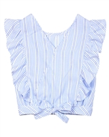 Mayoral Junior Girl's Blouson Striped Top