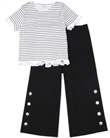 Mayoral Junior Girl's Smocked Top and Culotte Pants Set