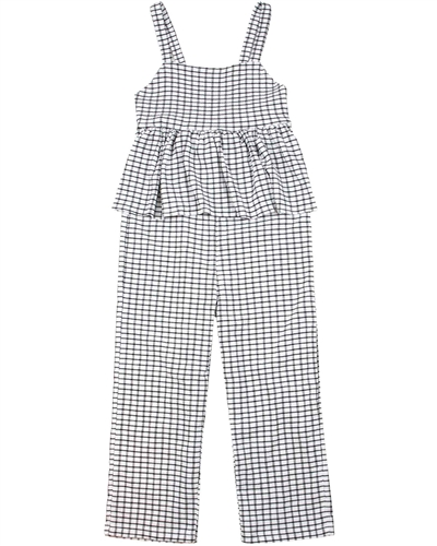 Mayoral Junior Girl's Check Bambula Jumpsuit