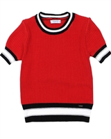 Mayoral Junior Girl's Rib Knit Top with Stripes
