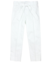 Mayoral Junior Girl's White Satin Pants with Belt
