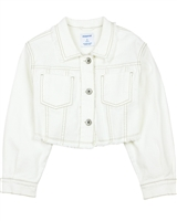 Mayoral Junior Girl's Cropped Denim Jacket in White