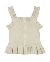 Mayoral Junior Girl's Rib Knit Top with Bottom Flounce