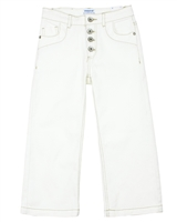 Mayoral Junior Girl's Button-Front Denim Culotte Pants