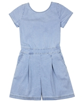 Mayoral Junior Girl's Chambray Romper