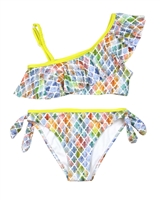Mayoral Junior Girl's One-shoulder Printed Bikini
