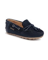 MAYORAL Boys Suede Moccasins in Navy