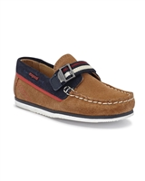 MAYORAL Boys Suede Boats Shoe in Camel
