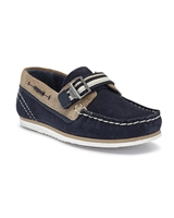 MAYORAL Boys Suede Boats Shoe in Navy