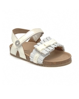 MAYORAL Baby Girls Sandals with Ruffles in White