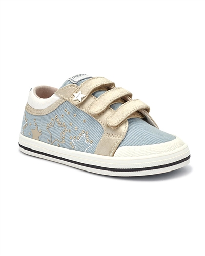 MAYORAL Girls Sneakers with Stars in Blue