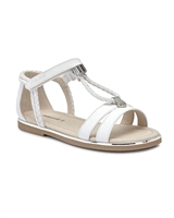 MAYORAL Girls Sandals with Braided Straps in White