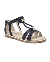 MAYORAL Girls Sandals with Braided Straps in Navy