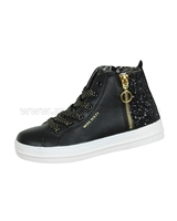 Miss Sixty Girls' Hi-top Sneakers with Glitter