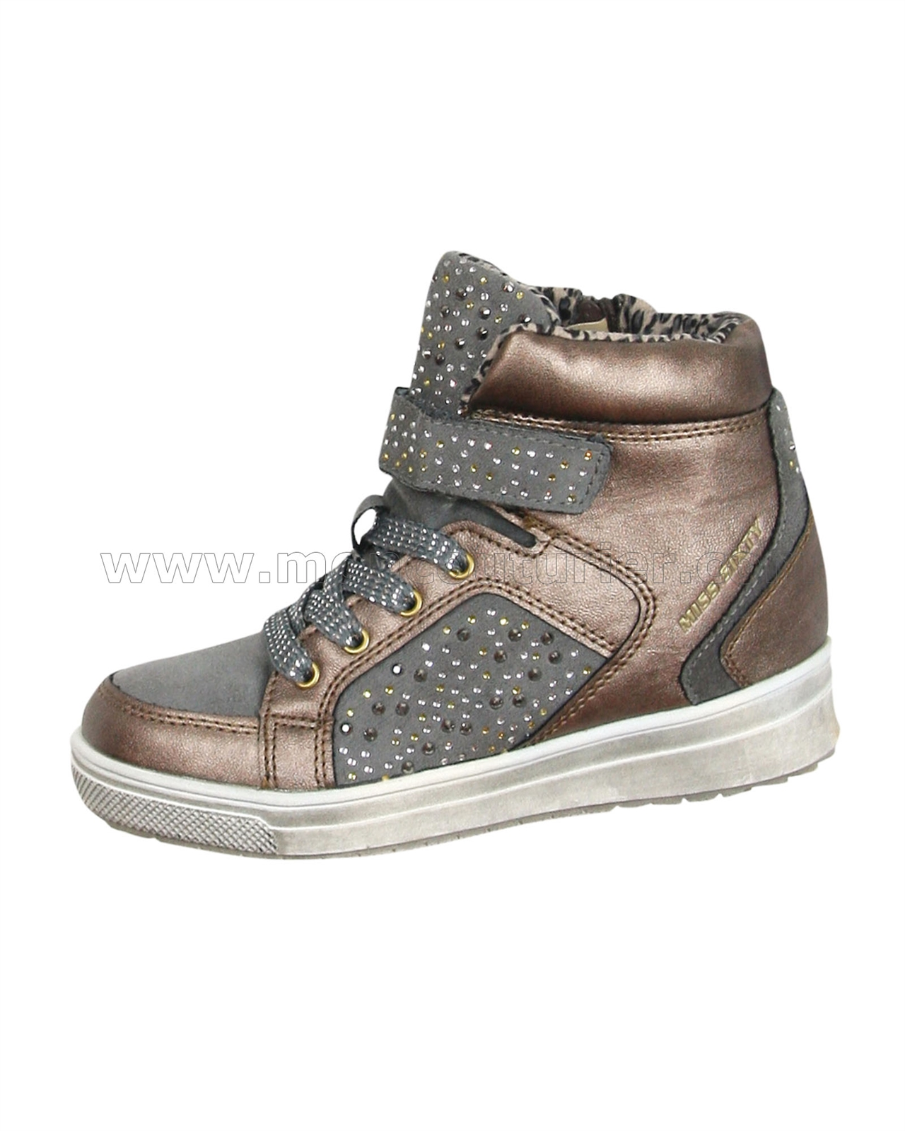 635fc0984d Miss Sixty Girls' Hi-top Sneakers with Crystals