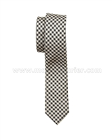 Mavezzano Boys Tie in Brown Check