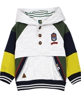 Nano Baby Boys Colour-block Buttoned Hoodie