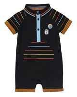Nano Baby Boys Romper with Stripes and Button Placket
